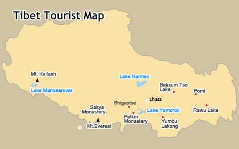 Tourist Maps of Tibet